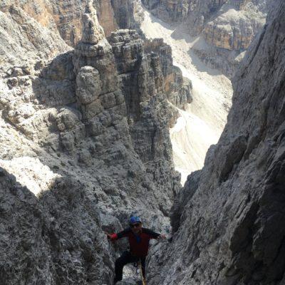 Campanil Basso con guida alpina sunnyclimb