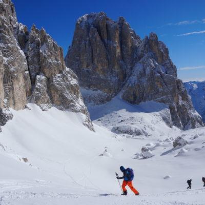 Sci alpinismo Dolomiti Pale di S Martino sunnyclimb.com guide alpine