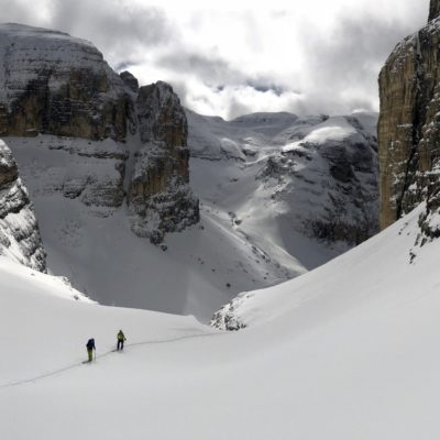 Sci alpinismo Dolomiti Pordoi sunnyclimb.com guide alpine