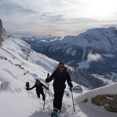 Dolomiti con Racchette da neve sunnyclimb.com guide alpine