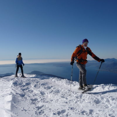 Ciaspole Racchette da Neve sunnyclimb,com guide alpine Lago di Garda