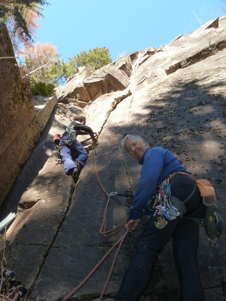 Corso di arrampicata in fessura trentino Alto Adige